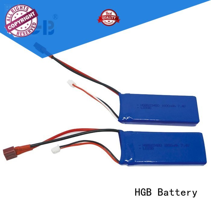 HGB popular rc lithium polymer batteries factory for RC quadcopters