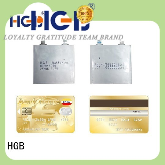 HGB primary thin li ion battery wholesale for micro speakers