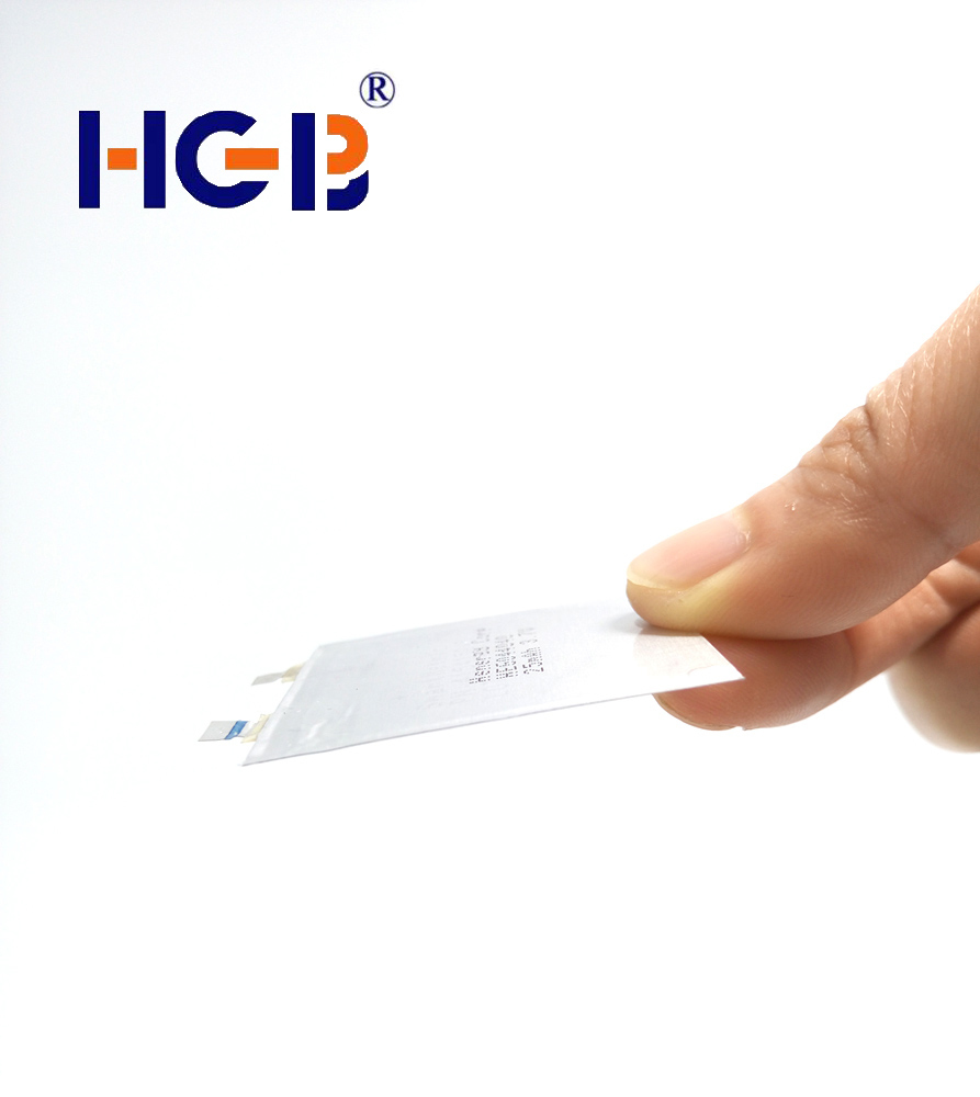 Ultra Thin battery HGB053527 3.7V  12mAh rechargeable battery