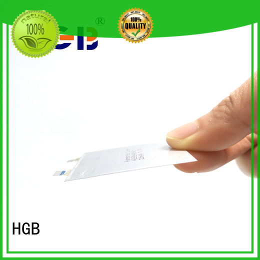HGB rechargeable ultra thin lithium ion battery for wearable devices