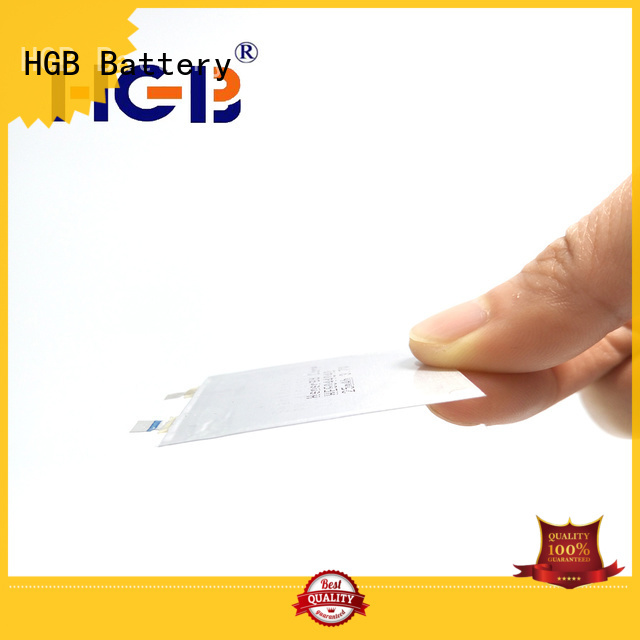 HGB rechargeable thin battery wholesale for micro speakers