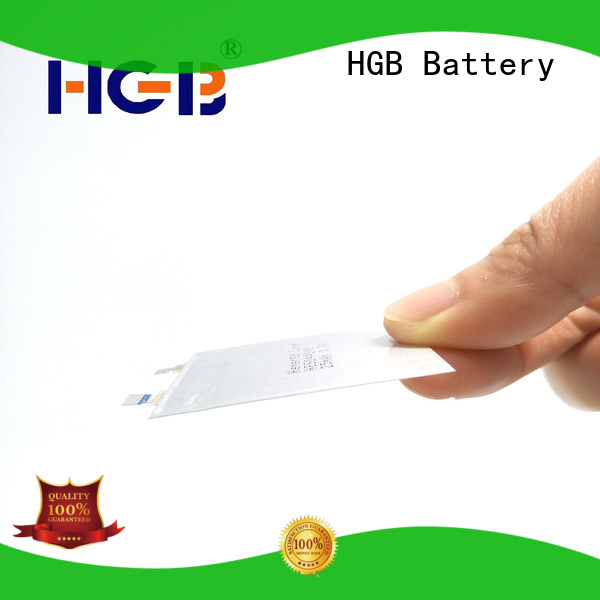 HGB rechargeable ultra thin lithium battery factory price for wearable devices