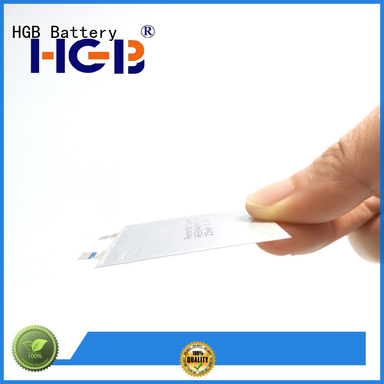 HGB ultra thin lithium ion battery series for portable sensors power cards