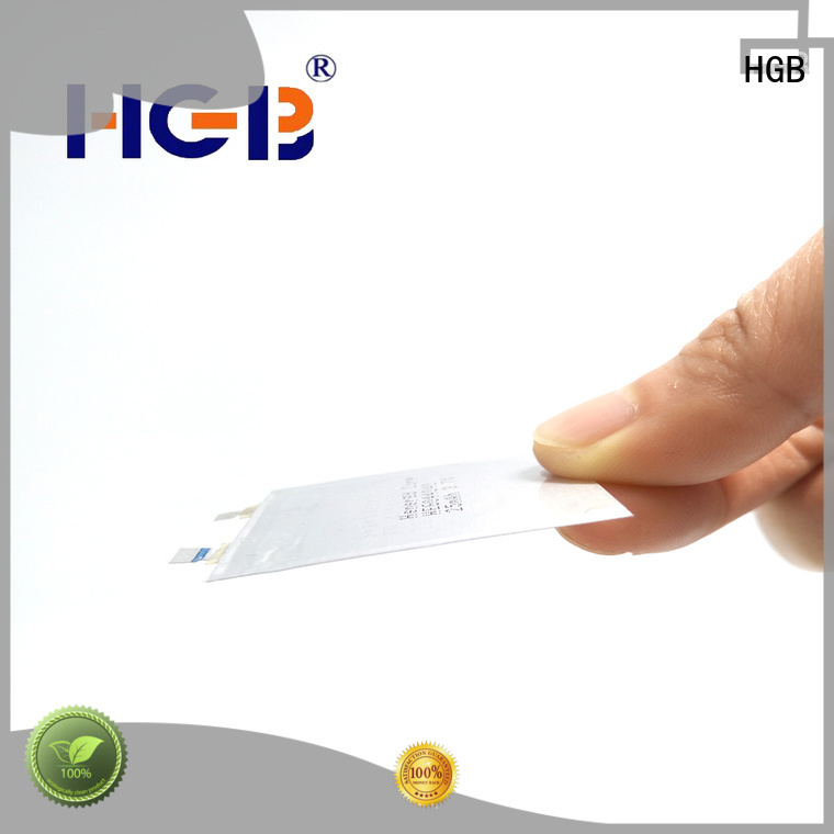 HGB high voltage thin battery factory price for wearable devices